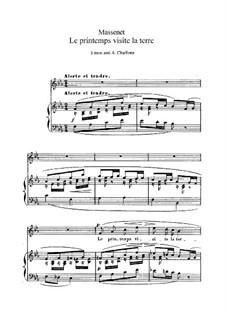 Le printemps visite la terre: em E flat Maior by Jules Massenet