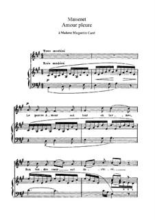 L'amour pleure: em A maior by Jules Massenet
