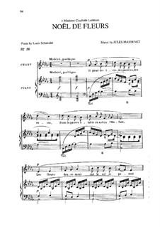 Noël de fleurs: em D flat Maior by Jules Massenet