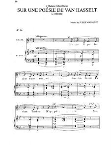 Sur une poésie de Van Hasselt: em B flat maior by Jules Massenet