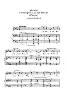 Sur une poésie de Van Hasselt: em D flat Maior by Jules Massenet