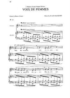 Voix de femmes: em E flat Maior by Jules Massenet