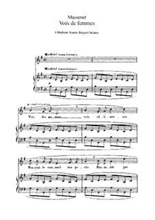 Voix de femmes: em G maior by Jules Massenet