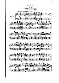 La reine Topaze: Act II. Arrangement for piano by Victor Massé