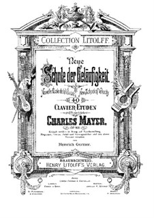 Forty Etudes, Op.168: set completo by Charles Mayer