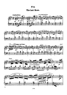 Twelve Favorite Melodies: No.9 The last rose of summer by Henry Maylath