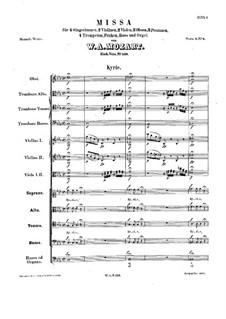 Mass No.4 in C Minor (Missa solemnis), K.139: Mass No.4 in C Minor (Missa solemnis) by Wolfgang Amadeus Mozart