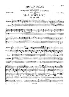 Ergo interest, K.143: Ergo interest by Wolfgang Amadeus Mozart