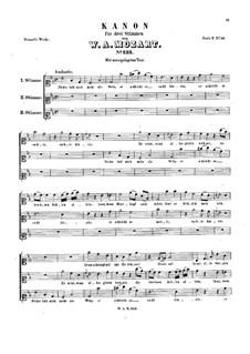 Nichts labt mich mehr als Wein, K.233: Nichts labt mich mehr als Wein by Wolfgang Amadeus Mozart