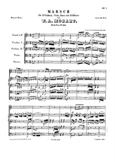 March in F Major, K.248: March in F Major by Wolfgang Amadeus Mozart
