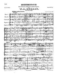 Divertissement in F Major, K.253: Divertissement in F Major by Wolfgang Amadeus Mozart
