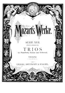 Divertissement in B Flat Major, K.254: parte do violino by Wolfgang Amadeus Mozart