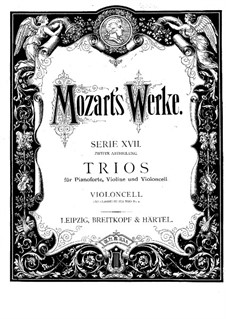 Divertissement in B Flat Major, K.254: parte violoncelo by Wolfgang Amadeus Mozart