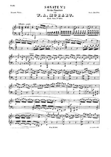 Sonata for Piano No.2 in F Major, K.280: For a single performer by Wolfgang Amadeus Mozart