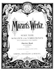 Sonata for Violin and Piano No.17 in C Major, K.296: partitura by Wolfgang Amadeus Mozart