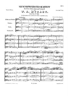 Quartet for Flute and Strings in A Major, K.298: partitura completa by Wolfgang Amadeus Mozart