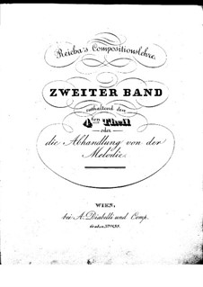 Compositionslehre: Band II, Teil IV by Anton Reicha