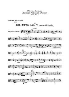 Antiche danze et arie per liuto. Suite No.1: parte viola by Ottorino Respighi