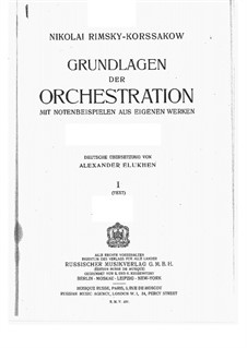 Principles of Orchestration: Introduction and Chapter I by Nikolai Rimsky-Korsakov