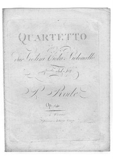 String Quartet in G Minor, Op.14: quarteto de cordas em G menor by Pierre Rode