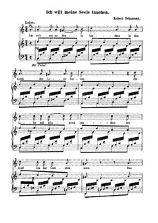 No.5 I Want to Bathe My Soul in the Chalice of the Lily: Partitura Piano-vocal by Robert Schumann