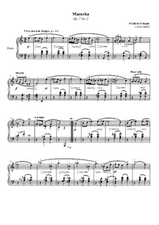 Mazurkas, Op.7: No.2 em A menor by Frédéric Chopin