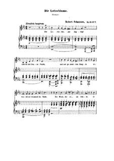 No.7 Die Lotosblume (La fleur de lotus): piano-voz partitura ( E flat maior) by Robert Schumann