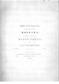 La Cenerentola (Cinderella): Non più mesta, for piano by Gioacchino Rossini