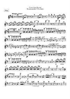 Semiramide: abertura - parte flautas by Gioacchino Rossini