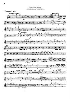 Semiramide: abertura - parte para trompetas by Gioacchino Rossini