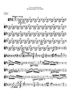 Semiramide: Abertura - parte viola by Gioacchino Rossini
