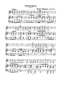 Songs and Romances, Op.51: No.2 Volksliedchen (Folksong) by Robert Schumann