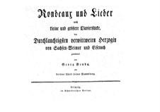 Rondeaux und Lieder: Rondeaux und Lieder by Jiří Antonín Benda