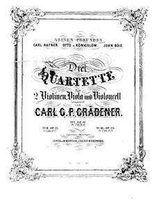 String Quartet No.1 in B Flat Major, Op.12: String Quartet No.1 in B Flat Major by Carl Georg Peter Grädener