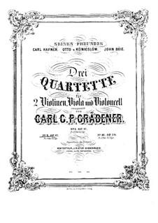 String Quartet No.2, Op.17: Quarteto de corda No.2  by Carl Georg Peter Grädener