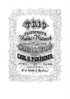 Piano Trio, Op.22: Trio de piano by Carl Georg Peter Grädener
