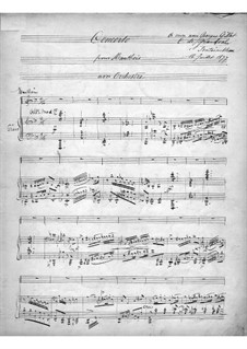 Concerto for Oboe and Orchestra, Op.7: Version for oboe and piano by Marie Grandval