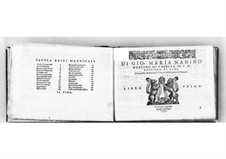 Madrigals for Five Voices: Book I. Tenor Part by Giovanni Maria Nanino