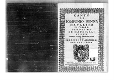 Madrigals: parte soprano by Pomponio Nenna