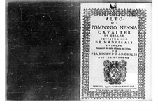 Madrigals: parte contralto by Pomponio Nenna