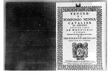 Madrigals: parte tenor by Pomponio Nenna