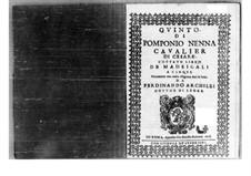 Madrigals: Parte de voz by Pomponio Nenna
