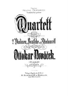 String Quartet in E Flat Major, Op.10: String Quartet in E Flat Major by Ottokar Nováček