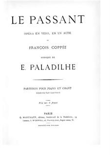 Le passant: Le passant by Emile Paladilhe