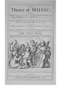The Theater of Music, Book I: The Theater of Music, Book I by John Blow, Henry Purcell, Robert King, William Turner