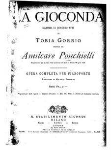 Complete set: arranjo para piano by Amilcare Ponchielli
