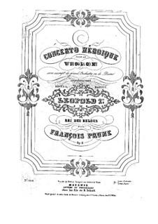 Concerto héroïque, Op.11: Parte de solo by Francois Humbert Prume