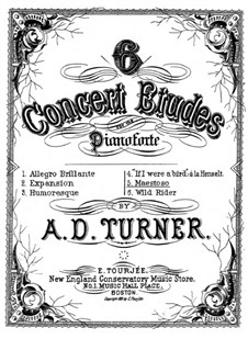 Six Concert Etudes: No.5 Maestoso by Alfred Dudley Turner