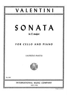 Sonata in E Major: para Violoncelo e piano by Giuseppe Valentini