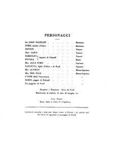 Falstaff: ato I by Giuseppe Verdi